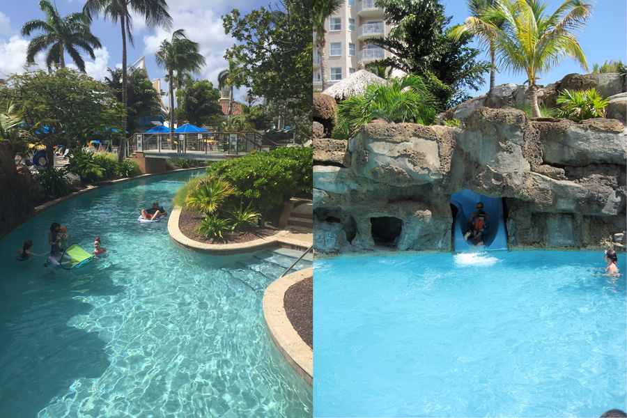 Floating down the lazy river & laughing down the water slide!