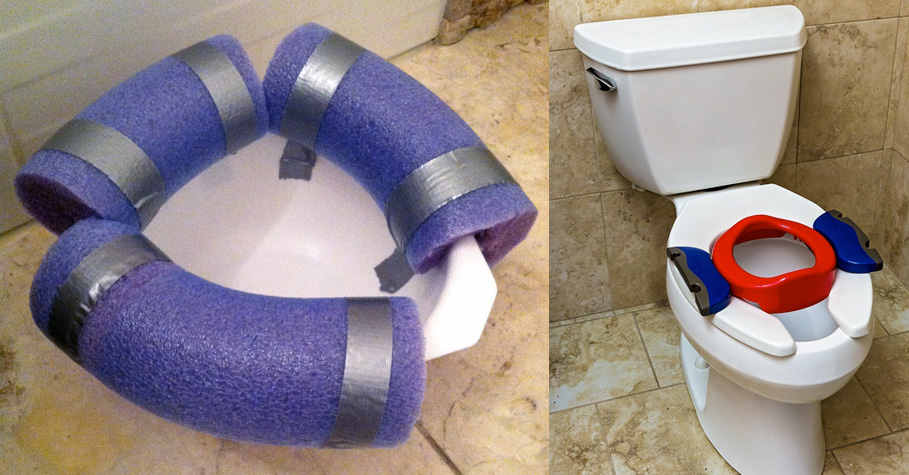 Makeshift potty vs. Potette Plus