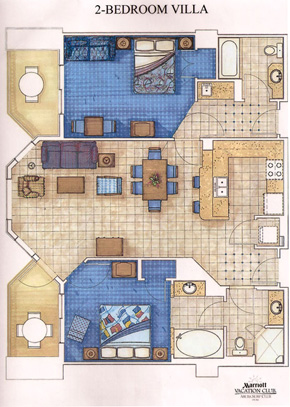 2 BR layout